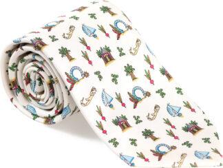 Boy's Medley Tie in White