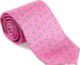 Men's Tree Frog Tie in Pink