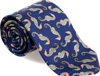 Men's Seahorse Tie in Navy