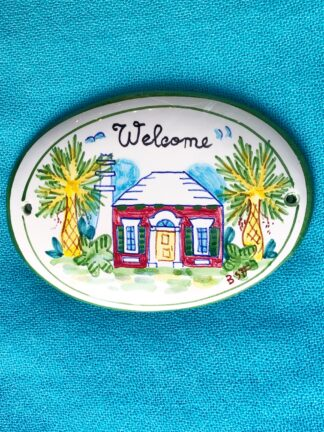 Welcome Ceramic Sign
