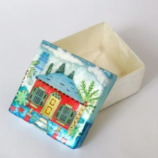 Bermuda Cottage Capiz Shell Box