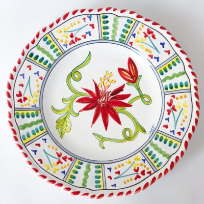 tropical flower plate
