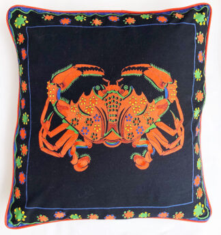 Crab decorative pillow