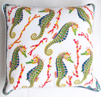 Seahorse couch pillow