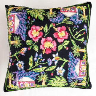 Tropical cottage decorative pillow