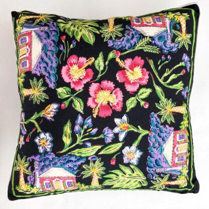Tropical cottage decorative pillow
