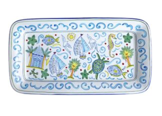 Water themed serving platter