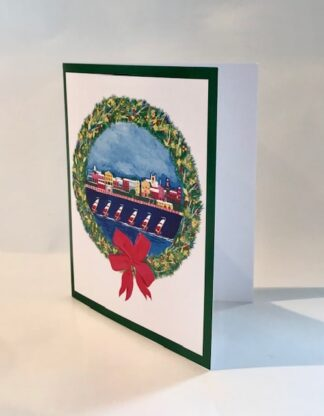 An Impression of Front Street Christmas Notecard