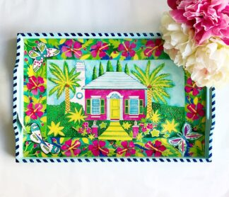 Bermuda Cottage Wooden Tray