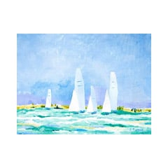 Afternoon Sailing Canvas Print