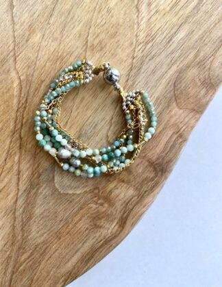 Beaded Turquoise Wrap Bracelet