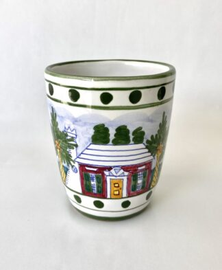 Bermuda Cottage Ceramic Water Cup