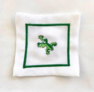 Tree Frog Linen Coaster
