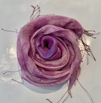 Fleurs Scarf in Fuchsia & Light Pink