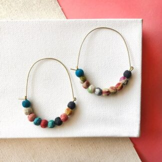 Kantha Multi-Color Hoops