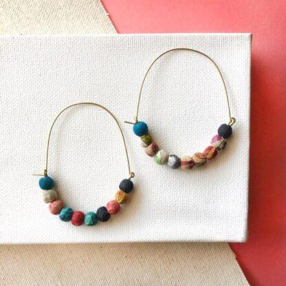 Kantha Multi-Color Hoops