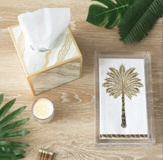 Grand Palms Paper Guest Towel Napkins in Black