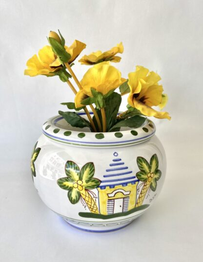 Yellow Buttery Plant Pot
