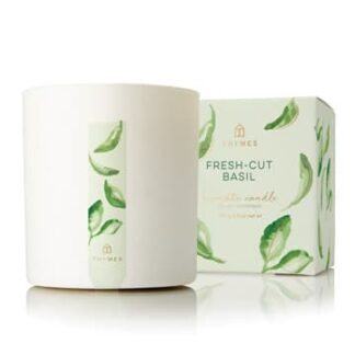 Thymes Fresh-Cut Basil Scented Candle