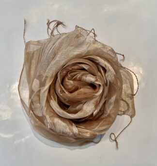 Fleurs Scarf in Champagne