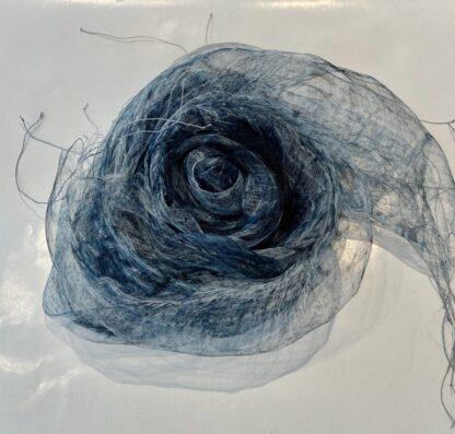 Fleurs Scarf in Dusty Blue