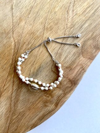 Beaded Shell Wrap Bracelet