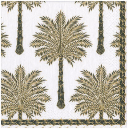 Grand Palms Paper Luncheon Napkins in Black