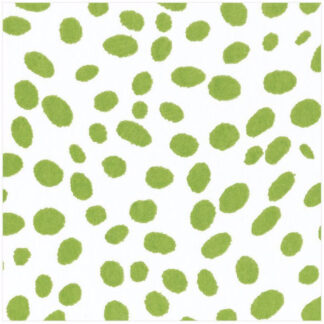 Spots Paper Linen Luncheon Napkins in Green