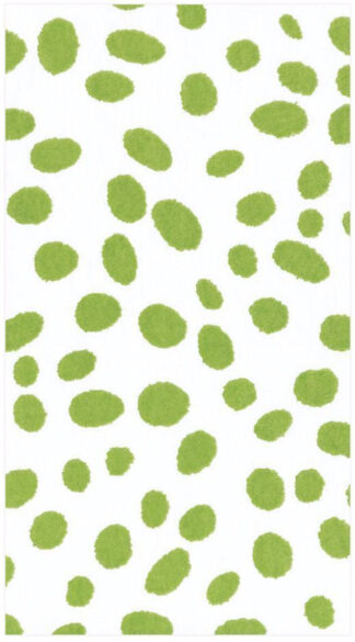 Spots Paper Linen Guest Towel Napkins in Green