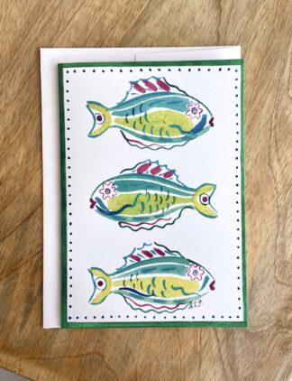 Parrot Fish Notecard
