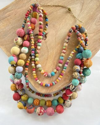 Kantha Statement Intertwining Garland Necklace