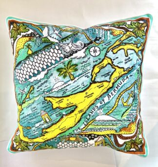 Bermuda Map Pillow Cover