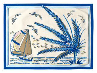 Sunset Dinghy in Blue Placemat