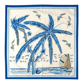 Sunset Dinghy in Blue Napkin