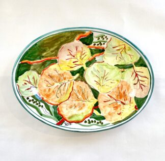 Bay Grape Small Oval Platter