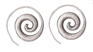 Hilltribe Primitive Spiral Earrings