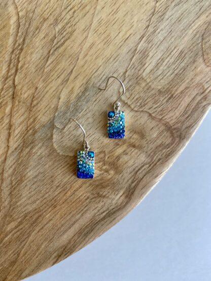 Crystal Block Earrings