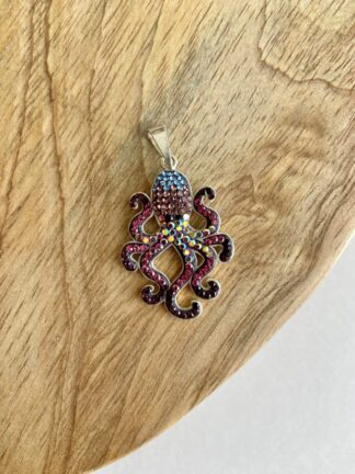 Crystal Octopus Pendant
