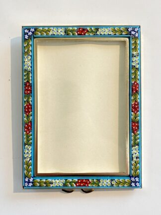 """Italian Mosaic Glass 2""""x3.5"""" Frame in Turquoise"""