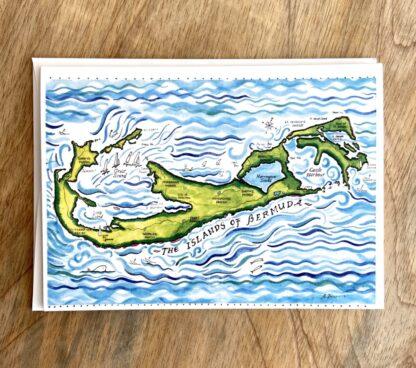 Bermuda Map Notecard.