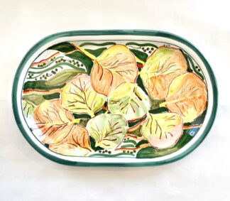 Bay Grape Oval Platter