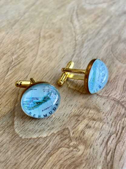 Bermuda Map Bauble Cufflinks