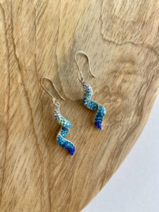 Crystal Twirl Earrings