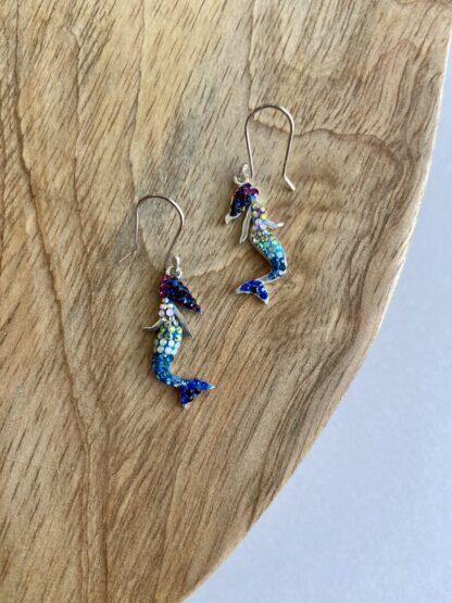 Crystal Mermaid Earrings
