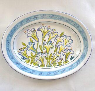 Bermuda Easter Lily Large Oval Platter