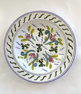 Tree Frog & Flower Medley Shallow Pasta Bowl