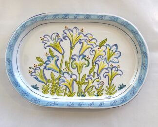 Bermuda Easter Lily Oval Platter