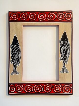 Soap Stone 4x6 Frame - Two Fish