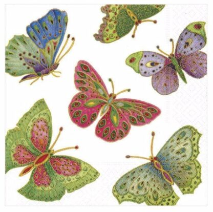 Jeweled Butterfly Cocktail Napkins