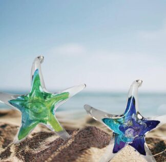 Luke Adams Hand-blown Glass Starfish 3.5""